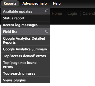 Navigation to view top page not found report in Drupal 7